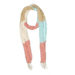 FREE WITH BUNDLE striped color block boho layering scarf